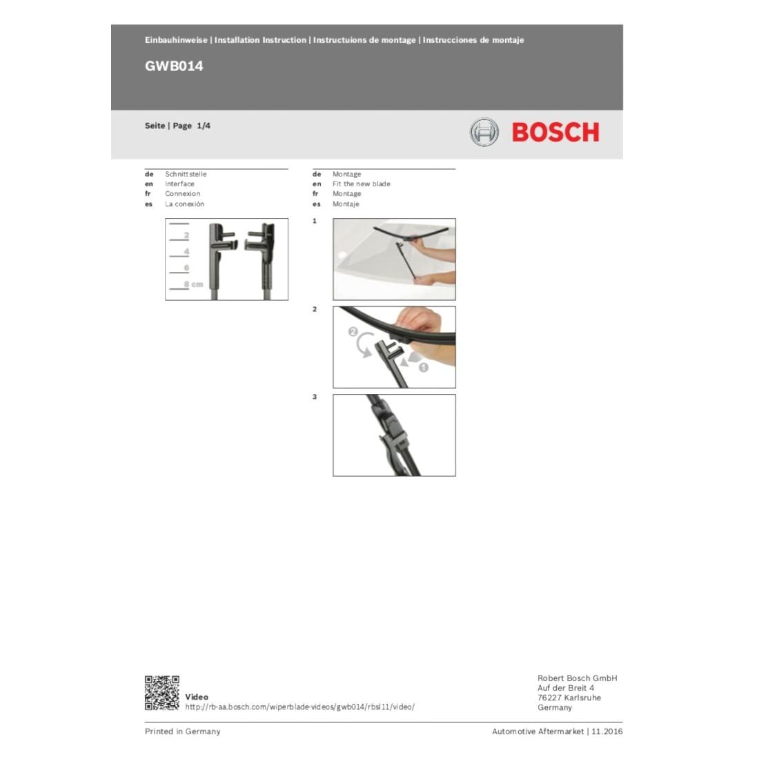 Bosch 3397014123 Wischblatt Aerotwin Multi-Clip AM461S Set Flach-Scheibenwischer
