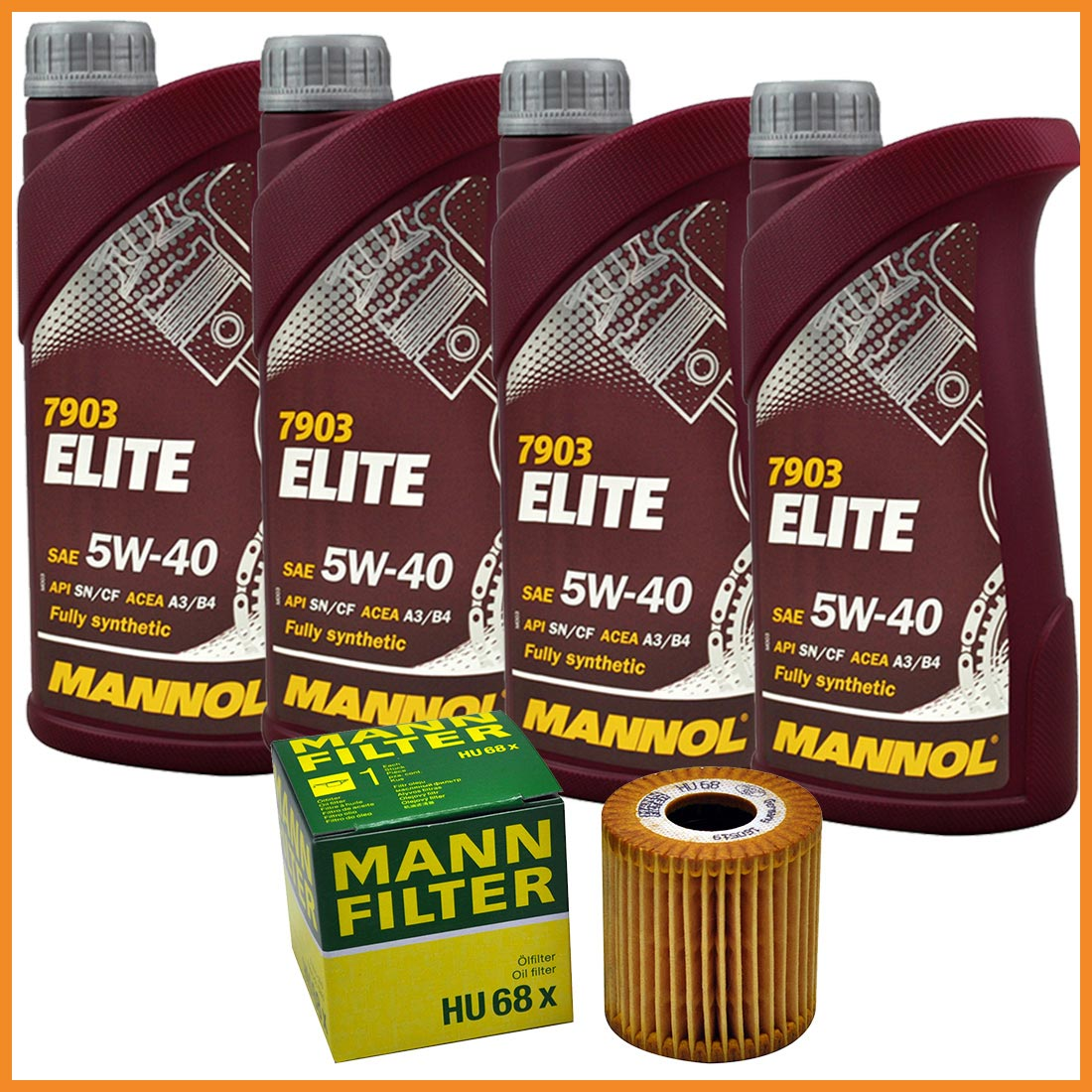 4 liter elite motor l 5w40 mann hu68x lfilter f r smart 450 451 452 fortwo ebay. Black Bedroom Furniture Sets. Home Design Ideas